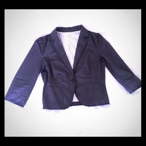 Calvin Klein cotton poplin pinstriped Jacket